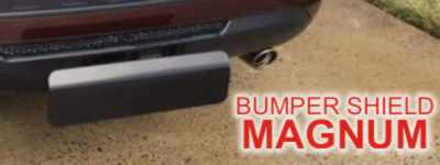 Bumper Shield Magnum - World's only receiver hitch step that absorbs impact up to 30 MPH! Reduce damage from Rear End Collision!