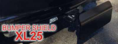 Bumper Shield XL25 - World's only receiver hitch step that absorbs impact up to 30 MPH! Reduce damage from Rear End Collision!